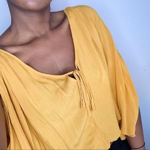 Yellow Flowy Blouse